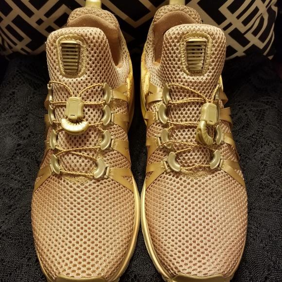 Nike Women Shox Metallic Gold Sneakers